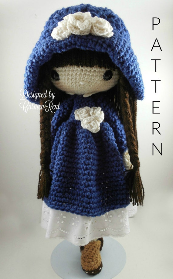 Crochet Patterns Etsy : Matilda Amigurumi Doll Crochet Pattern PDF by CarmenRent on Etsy