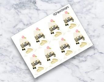 Wedding | Planner Stickers | ECLP
