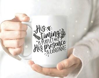 Inspirational Mug - Bible Verse Mug - Inspirational Quotes Coffee Mug - Christian Mug - Pretty Coffee Mug