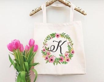 Bridal Party Tote - Tote Handbag for Women - Monogram Tote Bags for Women - Bridesmaid Tote Bag - Bridal Tote Bag - Canvas Tote Handbag
