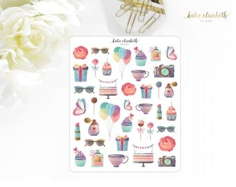 Party and Celebrate || Planner Stickers