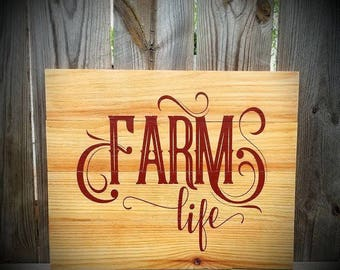 Farmhouse Sign - Farm Life - Wood Farm Sign - Farmhouse Decor - Country Decor - Wooden Farm Life Sign - Country Farm Decor - Farmhouse
