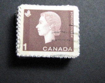 494 Canadian 1963 one cent postage stamps