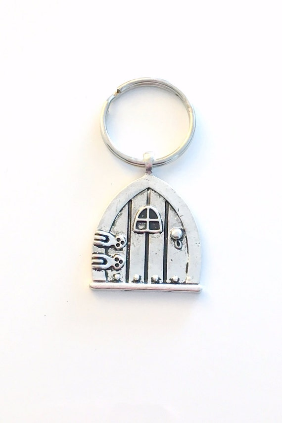Sale door key chain fairy wish door keychain fairytale for Fairy door with key
