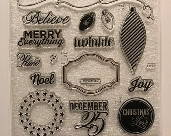 Twinkle / Stamp Set / Close To My Heart / CTMH / S1510 / Acrylic Stamp Set / Clear Stamp Set / Cardmaking / Scrapbooking / Christmas / SOTM