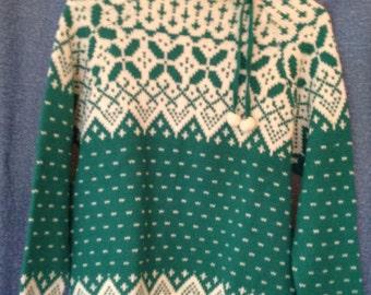 Beautiful winter sweater, knit Christmas, vintage knitting