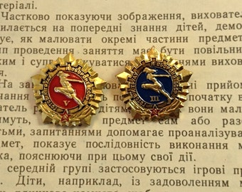 Sportsman Badge Vintage Soviet Sport Pin USSR pin badges Rarity collection Soviet souvenirs Soviet award Gift Russian athlete