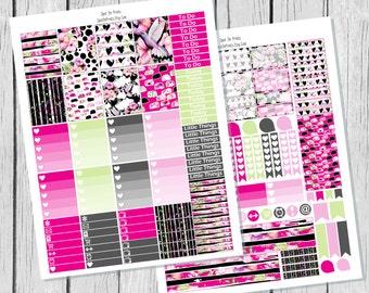 Tropical Evening Planner Sticker Printable / Spring Planner Stickers / Printable Planner Stickers / Weekly Planner Stickers/ Summer Stickers
