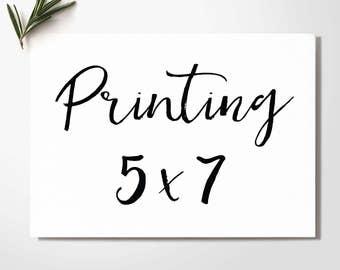 Printing 5''x7''