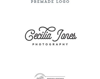 Calligraphic Logo Design, Premade Business Logo, Calligraphy Logo, Minimal Logo, Feminine Branding, Black&White, Logo and watermark