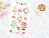Pastell Cake soft watercolor planner stickers boho
