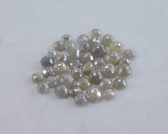 Color Diamonds Old Rose Cut Round/ Grey Diamond Rose Cut Size Approx 2.5 - 4 mm /Rare Diamond Collection/ Price Per Piece.
