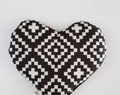 Little heart (therapeutic compress) scandinavian blanc & white