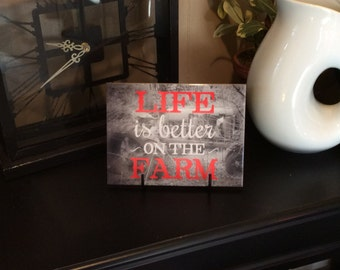 "Life Is Better On The Farm, 6"" x 8"" Ceramic Tile, Home Decor"