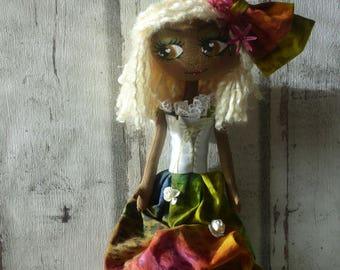 Mareva rag doll (doll, doll, ooak doll art doll handmade rag)
