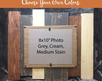 8x10 Wood Picture Frame, Reclaimed wood frame, Pallet Picture Frame, 8x10 Pallet Frame, distressed Wood Picture Frame, 8x10 wood frame