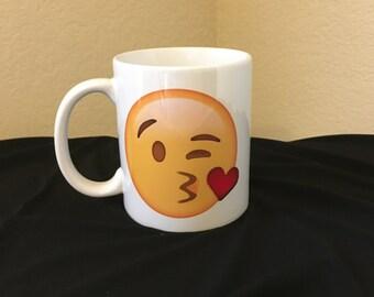 Emoji Mug - blowing kisses LOVE