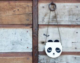 Panda shoulder bag - small size