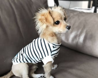 dog cute striped tee - dog turtleneck - dog sweater - sweater for dogs - pet sweater - pet clothes