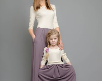 Mommy and Me Dress-Mother daughter matching dress-Beautiful Dress-Long Dress-Party Dress-Evening Dress-Cocktail Dress-Womens Dresses-Dress