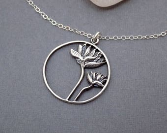 """Lotus Necklace. Free Shipping. Large Lotus Flower Necklace. Yoga Zen Jewelry. Sterling Silver Lotus. Meditation Jewelry. Round Pendant. 1"""""""