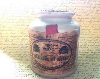 Vintage Stoneware Crock- Moutarde de Meaux Pommery