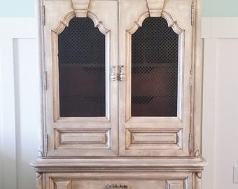 SOLD!!! French Country Armoire Tuscan Wardrobe Shabby Chic Storage Chest