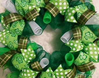 St. Patricks Day Wreath, St. Patricks day, St Patrick's day wreath, St Patricks day wreath, St Patrick wreath, Saint Patrick