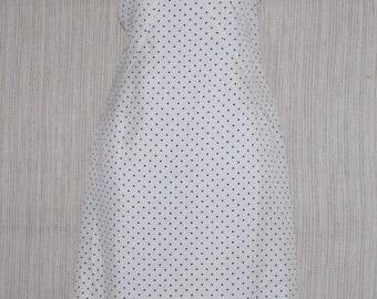 Cdavide Cenci Silk Polka Dots Sleeveless Knee Length Dress Size:40
