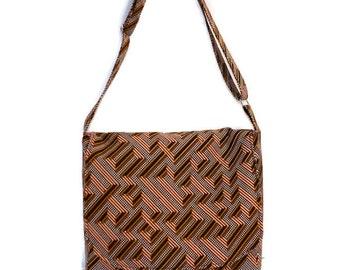 African Print Messenger Bag - Ankara Cross Body Bag - Ankara Messenger Bag - Ready to Ship