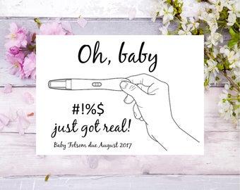 pregnancy announcement pregnancy test funny baby announcement baby on the way we are pregnant adult pregnancy announcement