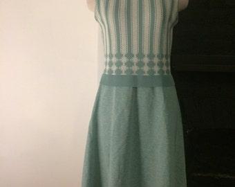 1970's vintage baby blue dress