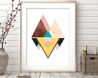 Wall Art Print, Printable Art, Modern Minimalist, Geometric Print, Digital Print, Wall Prints, Abstract Art Print, Minimalist Art, Modern