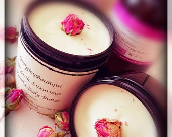 Organic Handmade Luxurious Body butter /8 fluid oz jar/body butter /
