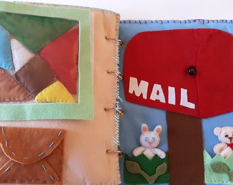 quiet book hand made from 6 to 99 years- tris- tangram- felt