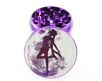 "Girl moon Herb grinder - 2.2"" - Free carrying bag"