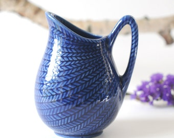 Hertha Bengtson Rorstrand pottery. Blue Fire or Blå Eld. Made in Sweden. Scandinavian Modern