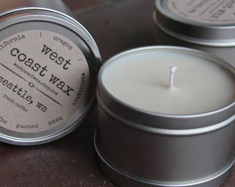 seattle, wa (fresh coffee) soy wax candle, 8 oz