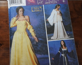 Simplicity 5843 Women's Medieval And Fantasy Gowns Sewing Pattern