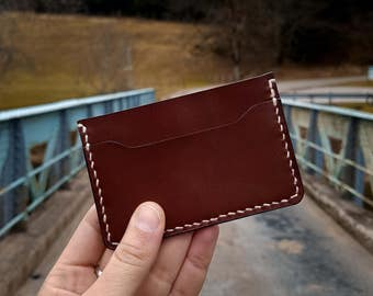 Leather cardholder, BROWN | Leather Card wallet | Slim leather wallet