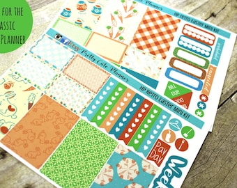 Happy Planner Stickers - Weekly Planner - Erin Condren Life Planner -  Functional stickers - Retro Easter Stickers - Spring Stickers