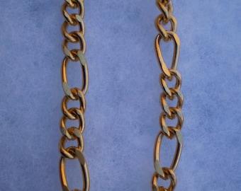 "Vintage 11 1/2"" Goldtone Chain Necklace"