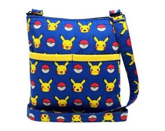 Pokemon Crossbody Bag // Pikachu Sling Bag // Crossbody Purse // Shoulder Bag // Hipster