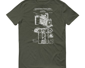 Folding Camera Patent T Shirt 1902 - Photographer Shirt, Photographer Gift, Patent Shirt, Camera Patent, Camera T Shirt, Photography T-Shirt