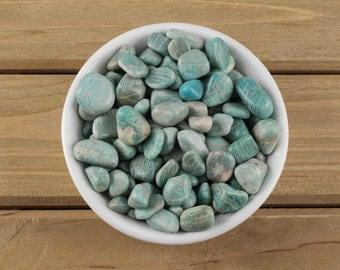 30g Small AMAZONITE Tumbled Stones - Amazonite Stone Jewelry, Amazonite Ring, Amazonite Necklace, Amazonite Beads, Amazonite Bracelet E0073