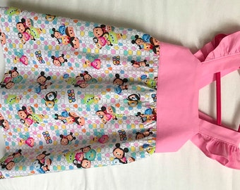 Tsum Tsum Dress, Disney Dress, Disney Toddler Dress, Little Girls Dress, Baby Girls Dress, Party Dress, Flutter Sleeve Dress