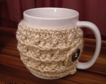 PATTERN Waffles for Breakfast Cup Cozy | Coffee Cup Sleeve |  Small & Large Sizes | Crochet Tutorial | Instructions | Waffle Stitch