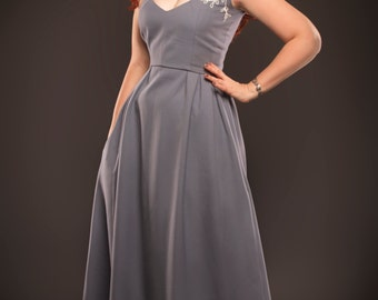 Casual long dress, long formal dress, evening gown, large size dress, maxi dress