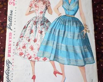 "1950's Original Sewing Pattern, Dress, Bust 29"""