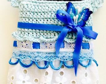 Handmade2shine  blue iphone7 case crocheted handmade babyshower